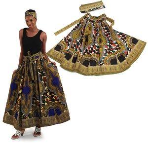 Bohemian Camo Maxi Skirt